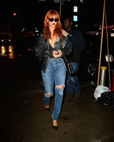 Rihanna's casual evening look. See 5 other celebrities whose late spring style killed it.