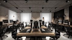 Office for engineering firm, – Creative Home Office Design Industrial Office Design, Modern Office Design, Rustic Office, Office Designs, Corporate Interior Design, Corporate Interiors, Office Interiors, Interior Office, Office Cubicle Design