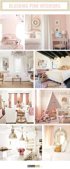 Best pink paint colors- Wild Aster and Ballerina Pink shown here- Girls Room