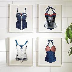 """""""Sailor Suit"""" Vintage Bathing Suit Wall Art"""