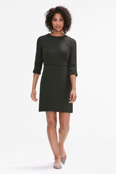 There's something about the Lena's ladylike silhouette that makes you sit up a little bit straighter. With princess seams, easy-fitting sleeves, and flattering bands at the waist and neck, this dress offers tailored polish in just one step.