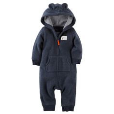 Baby Bear Fleece  Jumpsuit