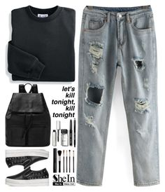 """kill tonight"" by scarlett-morwenna ❤ liked on Polyvore featuring Blair, Bobbi Brown Cosmetics, Japonesque and vintage"