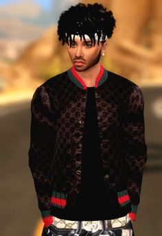 XxBLACKSIMS - Gucci Jacket, THE SIIMS 4 CC CAS