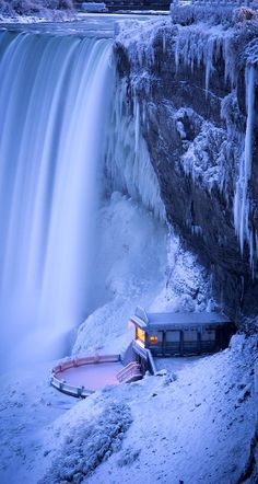 Niagara Falls in Winter ✈✈✈ Don't miss your chance to win a Free International Roundtrip Ticket to anywhere in the world **GIVEAWAY** ✈✈✈ https://thedecisionmoment.com/free-roundtrip-tickets-giveaway/