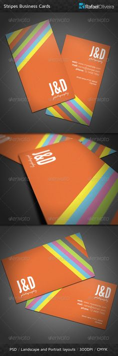 Get Noticed! Stripes Business Card is a great looking template with beauty colors and a sweet design, combining subtle textures a