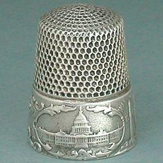 Antique Sterling Silver Washington DC Thimble by Simons Bros Circa 1890s | eBay