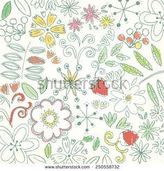 summer flower pattern - stock vector