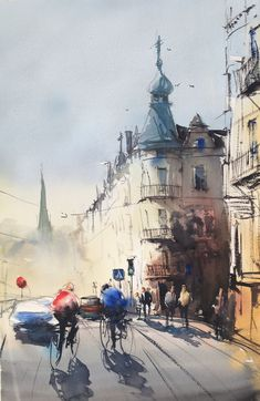 Stefan Gadnell present his watercolors and arts. Watercolor Landscape, Watercolor And Ink, Watercolour Painting, Painting Art, Landscape Paintings, Landscapes, Color Art, Watercolours, Art Drawings