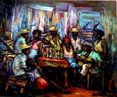Haitian Artist Ernst Louizor Oil on canvas 20x24 http://www.carrieartgallery.com/ernst-louizor-2296/