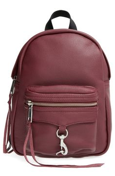 This street-and-bag savvy burgundy Rebecca Minkoff bag is going to be an autumn staple.