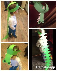 Crocodile Paper Hat -Character Day Parade- The Selfish Crocodile Kids Crafts, Hat Crafts, Preschool Crafts, Paper Crafts, Art Crocodile, Crocodile Costume, Crazy Hat Day, Crazy Hats, Dinosaur Activities