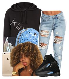 """""""Something Different"""" by kiingmiyah ❤ liked on Polyvore featuring MCM and Boohoo"""
