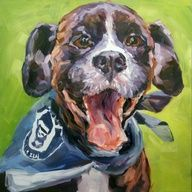 Charlie The Boxer, painting by artist Nancy Spielman