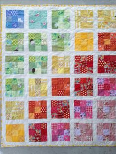 mini quilts using 2.5 inch squares | ... , using 2 inch white strips to separate the blocks (1.5 inch final