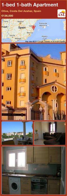 1-bed 1-bath Apartment in Oliva, Costa Del Azahar, Spain ►€136,000 #PropertyForSaleInSpain