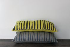 Decorative Pillow Case by Lempi design Verso yellow by LEMPIDESIGN, $55.00