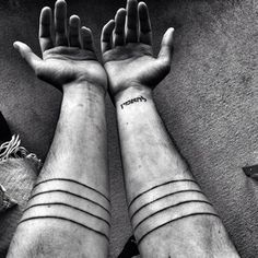 Black Line Tattoo