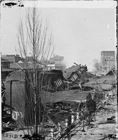Atlanta Depot after it was destroyed by Union forces on November 14, 1864.