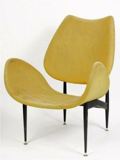 Grant Featherston; Enameled Metal 'Scape' Chair for Aristoc Industries, 1960.