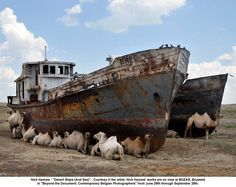 Ships at the Aral Sea by Nick Hannes