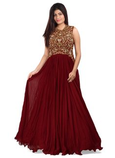 Genuine splendor comes out as a outcome of the dressing style and design with this georgette designer gown. The cut dana, embroidered, kasab work, resham work and stone work seems to be chic and great...