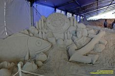 "Sand sculpture at the Pier 60 ""Sugar Sand Festival"" in Clearwater Beach,  Florida. From Jack Armstrong and tampabaysnowbirder.com Fun Places To Go, Tampa Bay Area, Sand Sculptures, Clearwater Beach, Destin Beach, Florida Beaches, Sugar, Sand Sculpture"