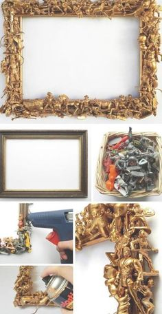 Photo frames DIY - Photo frames DIY - Frame Always aspired to discov. Quirky Home Decor, Upcycled Home Decor, Diy Home Decor Projects, Upcycled Crafts, Diy Home Crafts, Diy Crafts To Sell, Decor Diy, Decor Room, Repurposed Furniture