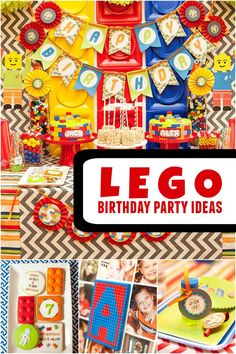 A Bright and Colorful Boys' Lego Birthday Party - Spaceships and Laser Beams