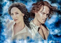 Jamie and Claire   Outlander © Vera Adxer