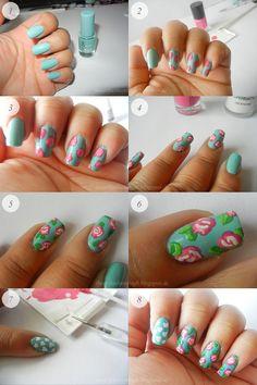 ! Beauty Palmira: Tutorial: Vintage Nails