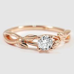 14K Rose Gold Budding Willow Ring