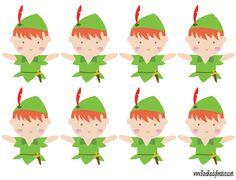 Peter Pan Cupcake Topper Printable File