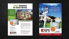 Magazine Ad Campaign Design - Smart Solutions For Smart Home for Client Assurance Power Systems