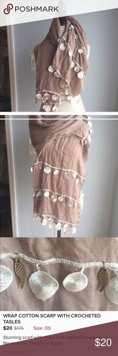 Tassel beige scarf Gorgeous scarf ❤️bought in Egypt ❤️soft Accessories Scarves & Wraps