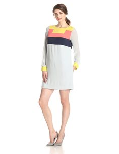 BCBGMAZAZRIA Women's Cally Color-Blocked Dress at Amazon Women's Clothing store: