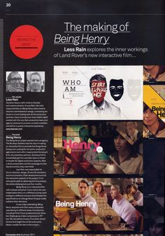 A collaboration between The Brooklyn Brothers, Somesuch & Co and Less Rain, 'Being Henry' is an interactive film about choices.