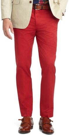 Red Chinos by Brooks Brothers. Buy for $74 from Brooks Brothers