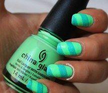 mint green, summer, blue, nail art, nail polish, nails, china glaze