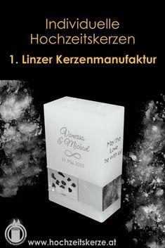 Ich fertige einzigartige Hochzeitskerzen nach individuellen Wünschen an. Ein Unikat für jedes Brautpaar. 100%ige Handarbeit aus Oberösterreich. Sie können nicht nur die Verzierung, sondern auch die Form der Kerze selbst bestimmen, da wir auch die Rohlinge nach Kundenwunsch selbst herstellen. Kerze mit Holz, Mantelkerze, Kerze mit Mineralien, Achat, Meteorit, Hochzeit selbstgemacht Standesamt Kirche Hochzeitsbrauch Geschenk Dekoration Kerze deko Trauung Trauspruch Kerzenshop Cards Against Humanity, Form, Cover, Books, Movie Posters, Embellishments, Dekoration, Candle Decorations, Newlyweds