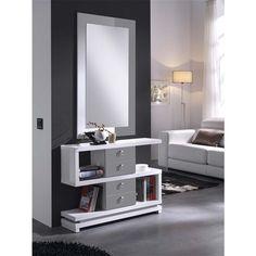 Meuble d'entrée   miroir design Eva