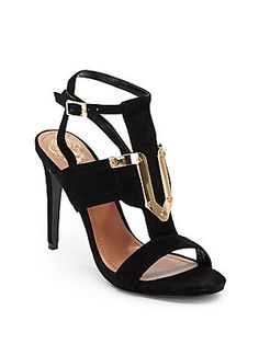 I own these too - they're so amazing!! Florin Suede High-Heel Sandals