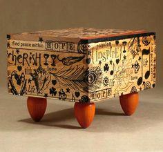 Cigar Box Arts, Crafts and Design Finds Cigar Box Projects, Cigar Box Crafts, Art Projects, Cigar Box Art, Cigar Box Purse, Altered Cigar Boxes, Altered Tins, Altered Art, Shadow Box
