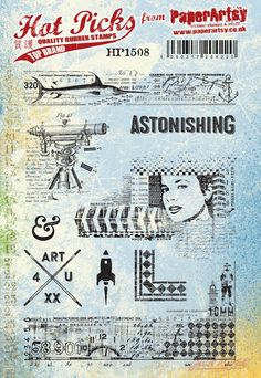 New A5 size stamps plates from PaperArtsy Fabulous collaged stamps images and stuff you can t wait to get your mitts on A5 EZmounted sheet of rubber