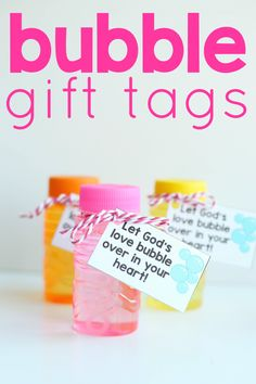 Bubble Gift Tags Let God's Love Bubble Over