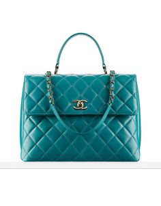 Quilted lambskin flap bag - CHANEL #fashion #handbag #chanel
