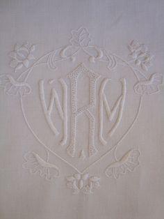 Antique Monogram W M R