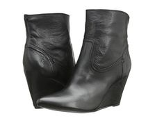 Frye Regina Wedge Short Black Soft Vintage Leather - Zappos.com Free Shipping BOTH Ways