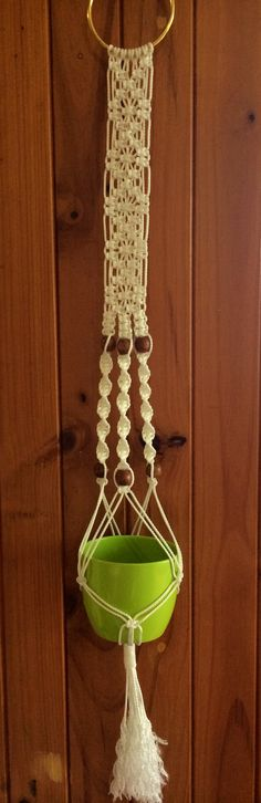 Another hanger of mine. Good old fashioned macrame!