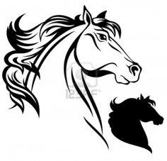 horse head vector Stock Photo